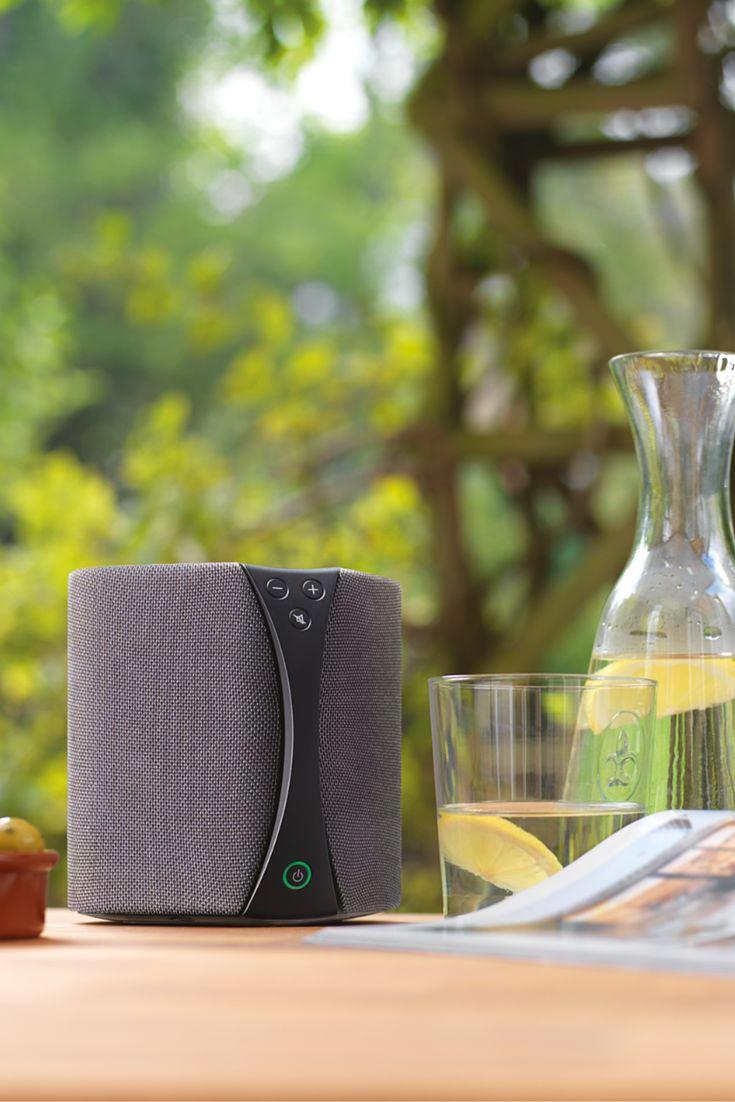 L'enceinte Bluetooth ou WiFi Jongo diffuse un son à 360°. L'enceinte nomade Jongo S3X est 100% sans fil grâce à sa batterie intégrée. Elle est idéale pour être placée au milieu d'une table d'extérieur ! #Jardin #Enceinte #Multiroom #Été #Batterie http://www.laboutiquederic.com/enceintes-wifi/287-pure-jongo-s3-multiroom-enceinte-bluetooth-wifi-sans-fil-graphite-0759454827243.html