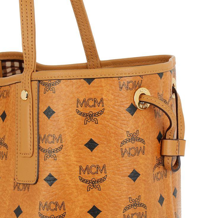 Handtasche, MCM, Shopper Project Vintage Liz Reversible Large Cognac