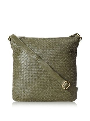 Zenith Women's Woven Small Shoulder bag, Olive
