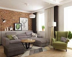 dom ok 100m2 metamorfoza - Średni salon, styl nowoczesny - zdjęcie od Grafika i Projekt architektura wnętrz