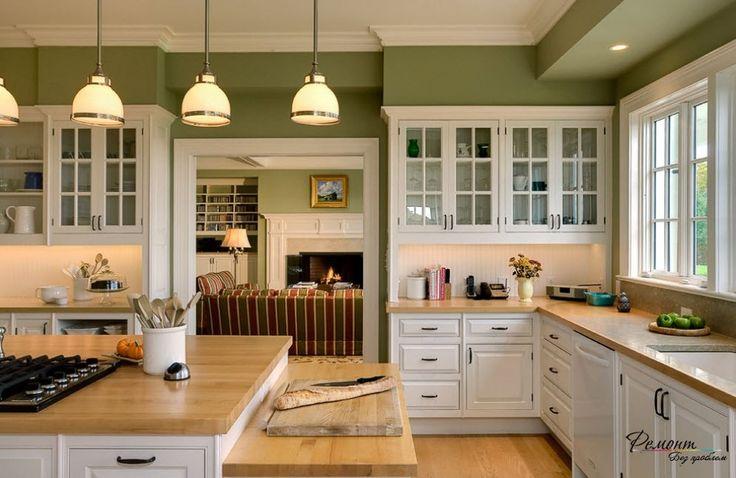 Современный дизайн кухни в загородном и частном доме на фото