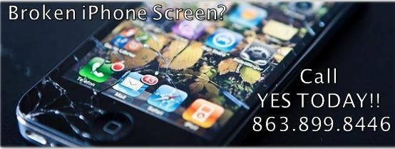 Broken glass on your phone or tablet? YES can help you. #iphone #ipad #ipod #android #apple #yesfl www.yesfl.biz (863) 899-8446