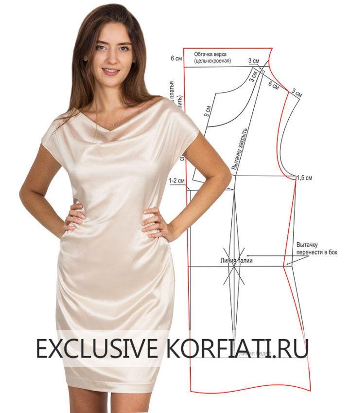13b6231711f Выкройка платья с драпировкой качели от Анастасии Корфиати