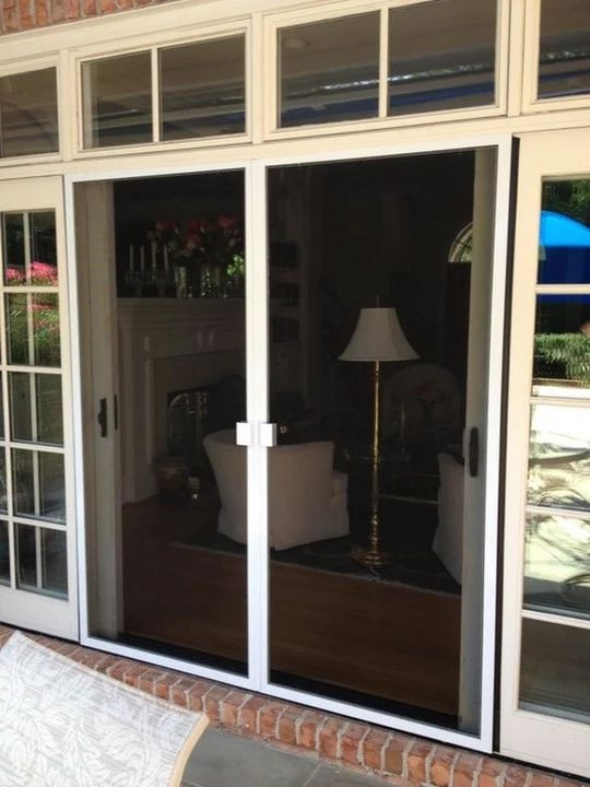 French Door Retractable Doors Install By Screenmobile Of Wilmington NC ·  Retractable DoorSliding Screen ...