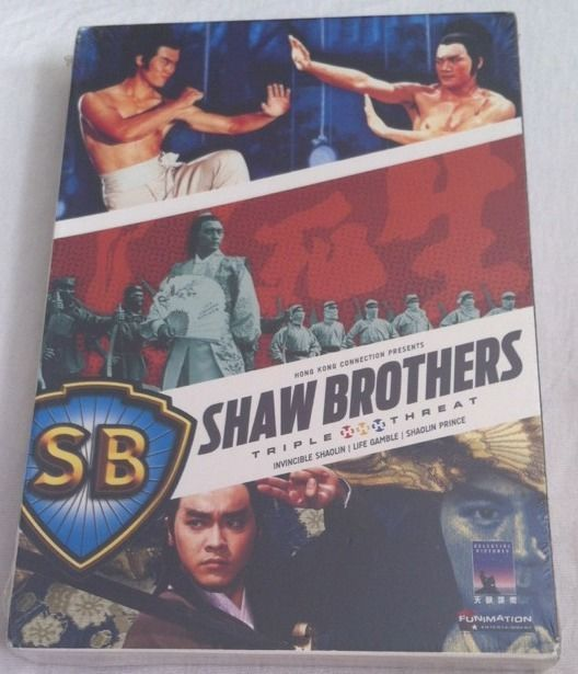 Shaw Brothers Triple Threat R1 3-DVD Set *NEW* OOP Kung-Fu Funimation Shaolin