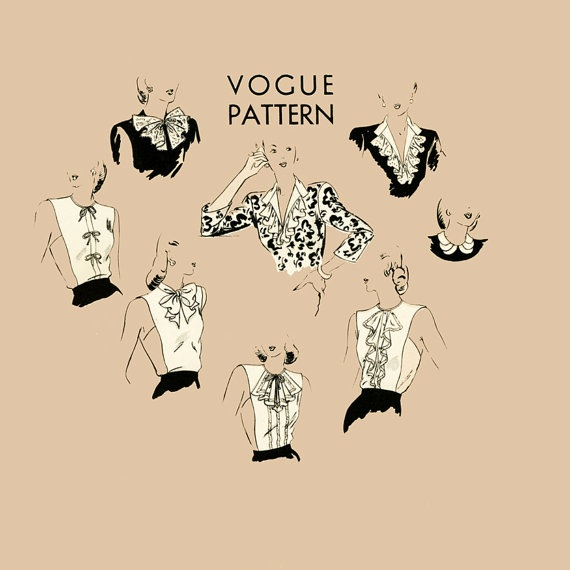 1940s Dickeys Vintage Sewing PatternVogue 5370 by CynicalGirl, $78.00