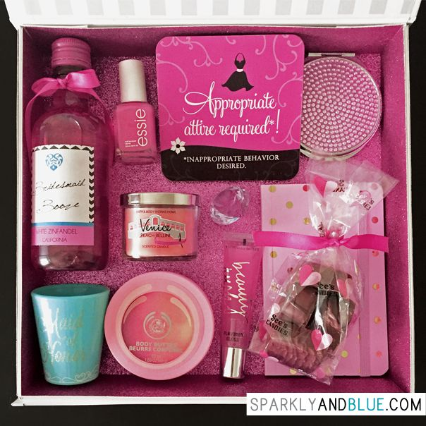 Cute and sparkly bridesmaid proposal boxes!