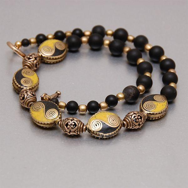 """""""EQUINOX"""" - Halskette Onyx mit Doppelspiralen von PALMYRA  auf DaWanda.com"""