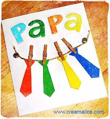 ✩★✩ Carte Cravates Fête des Pères / Father's Day Tie Card ✩★✩  www.creamalice.com
