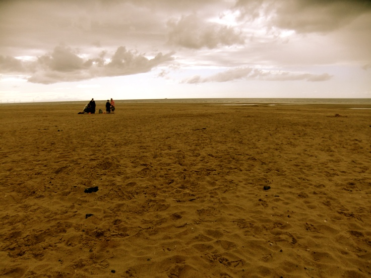 On the west coast of England, facing Wales