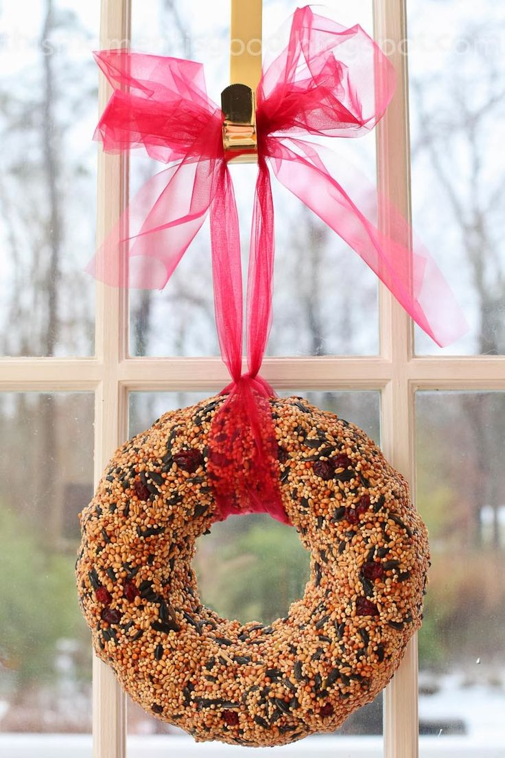 This Wreath Makes A Beautiful Christmas Gift for the Bird Lover... There are a lot of recipes for this wreath on the Internet. I've...