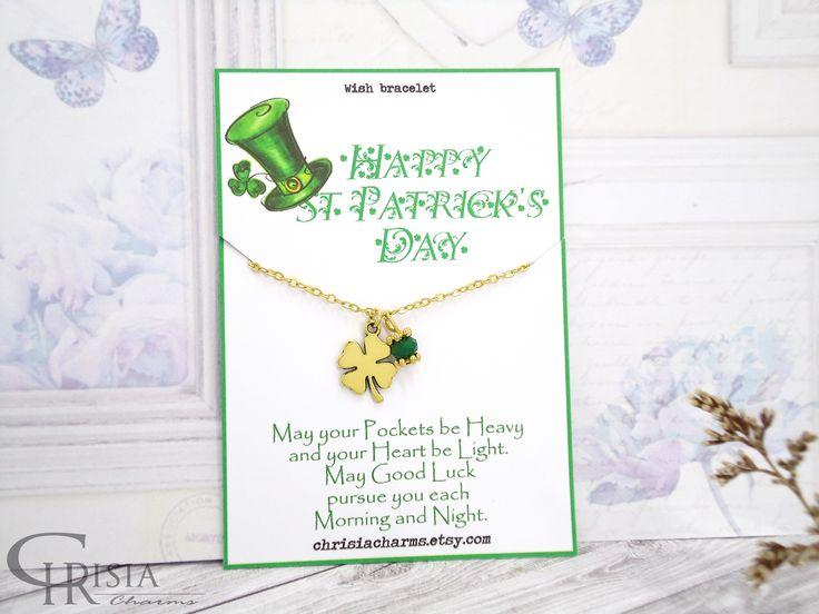 http://etsy.me/2okMV7l : St Patrick's Day Bracelet, Irish Wish Bracelet, Wish Bracelet, Green Bracelet, Clover Bracelet, Luck Bracelet, Friendship Gift,  #chrisiacharms #bracelets #stpatricksday #luck #wishbracelets #greenbracelets #irishbracelets #charmbracelets #etsy