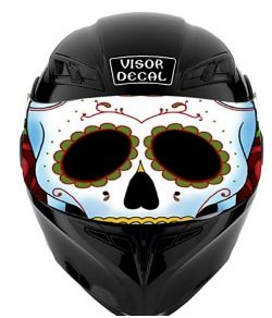 Motorcycle Visor Decals that you can see through