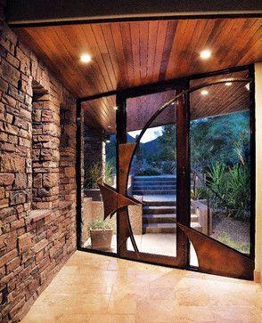Stunning Old Country Ledge Stone Entrance - Coronado Manufactured Stone Veneer - contemporary - Entry - Phoenix - Coronado Stone Products