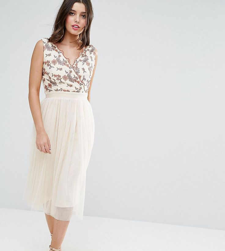 Get this Little Mistress Petite's midi dress now! Click for more details. Worldwide shipping. Little Mistress Petite Tulle Midi Dress With Embroidered Bodice - Beige: Petite evening dress by Little Mistress Petite, Lined tulle, Embroidered bodice, V-neck, Shirred-stretch back, Midi length, Regular fit - true to size, Hand wash, 100% Polyester, Our model wears a UK 8/EU 36/US 4 and is 160cm/5'3 tall. Little Mistress is the go-to label for party girls who like their looks straight from the…