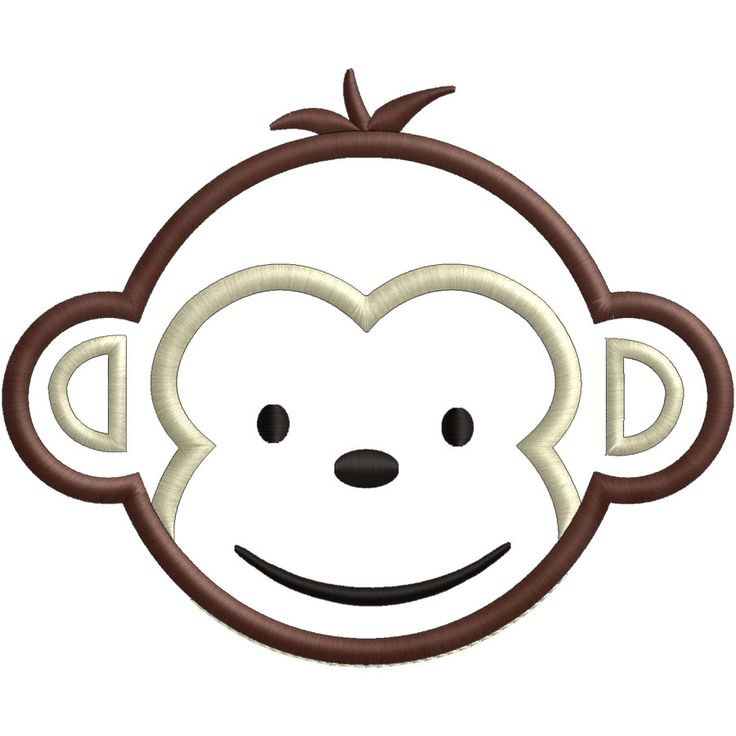 Cute boy monkey - made to match Mod Monkey head 6 sizes -