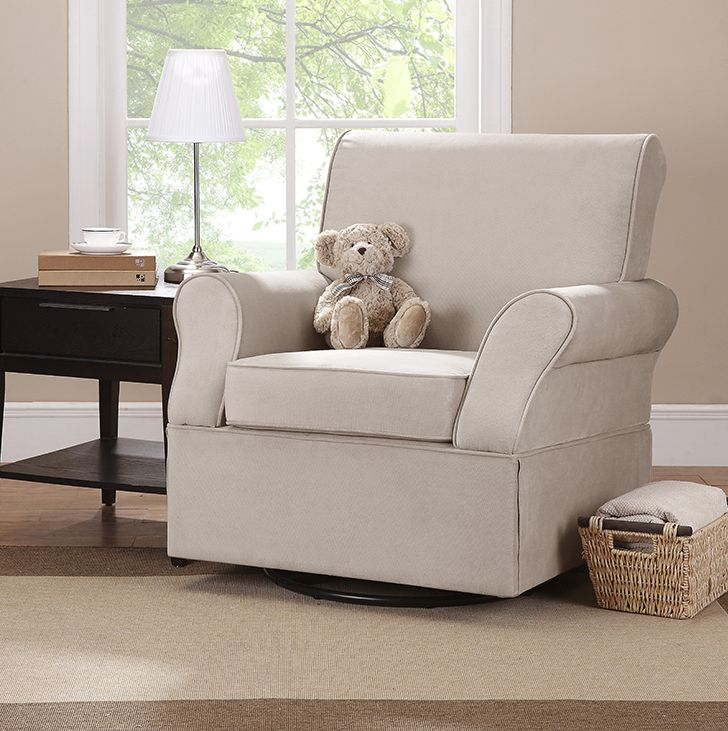 The Baby Relax Kelcie Swivel Glider will be your favorite place to spend time, relax, and soothe your baby.