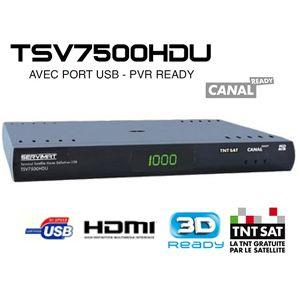 Servimat tsv 7500 hdu - Terminal numérique TNTSAT HD CANAL READY avec carte viaccess TNTSAT (Valable 4 ans) sur Astra 19.2° Est