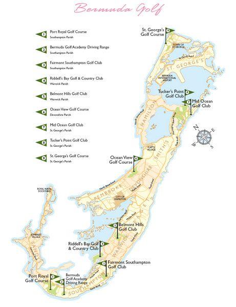 Bermuda Golf Map