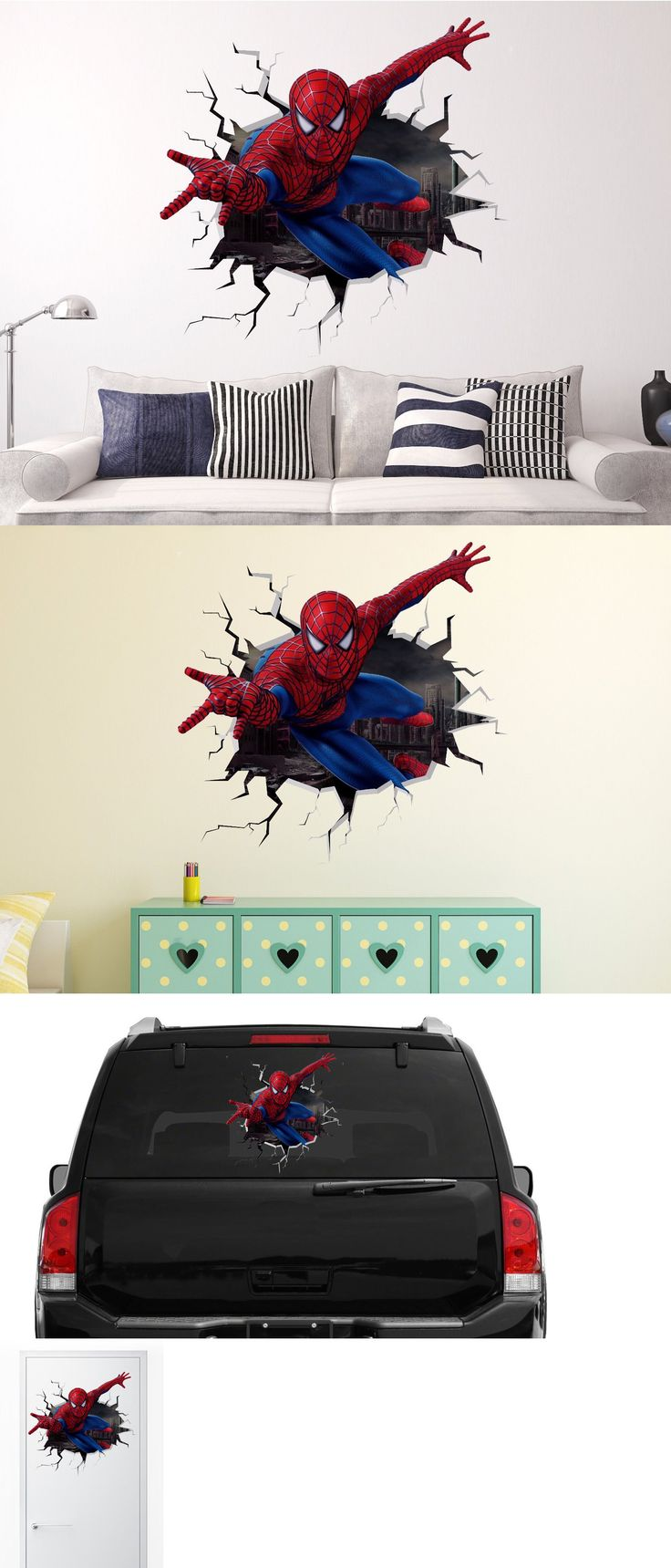 best 25 3d wall decals ideas on pinterest black tape project decals stickers and vinyl art 159889 spiderman wall decal sticker vinyl decor car door window