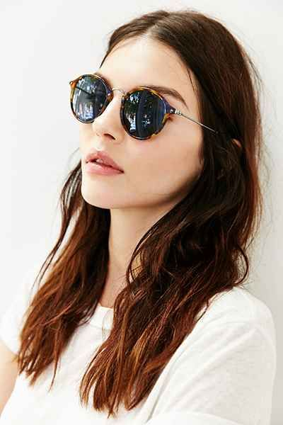 ray ban havana spotted round sunglasses  ray ban icon round sunglasses