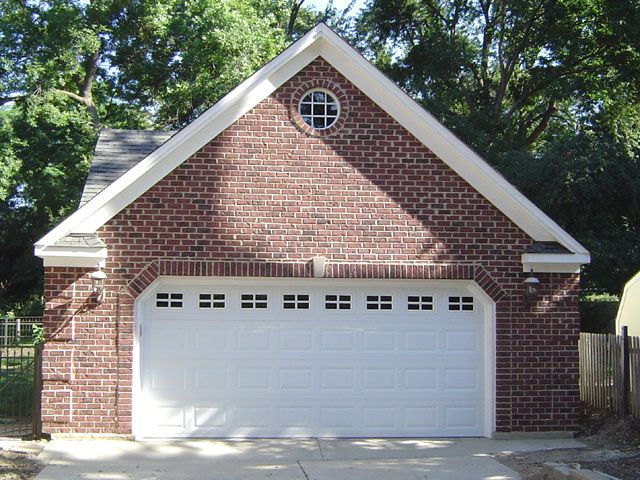 Images of brick garages custom garage features blue for Custom detached garage