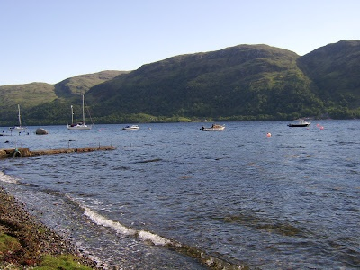 Boats are available for hire from Airds Bay for sea fishing on Loch Etive in Argyll, West of Scotland
