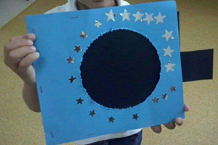 Manualidad para hacer con los niños y trabajar las fases lunares.