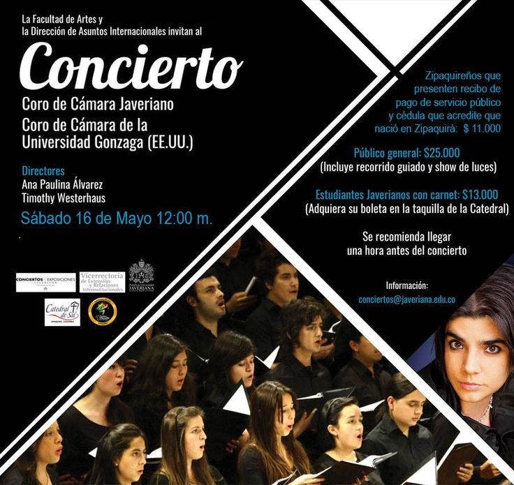 Si visitas #Zipaquirá este sábado 16 de mayo no te pierdas el concierto con el Coro de Cámara de la Universidad Gonzaga, y el de la universidad Javeriana. #Zipaquiráturística #Colombia #larespuestaesCOlombia