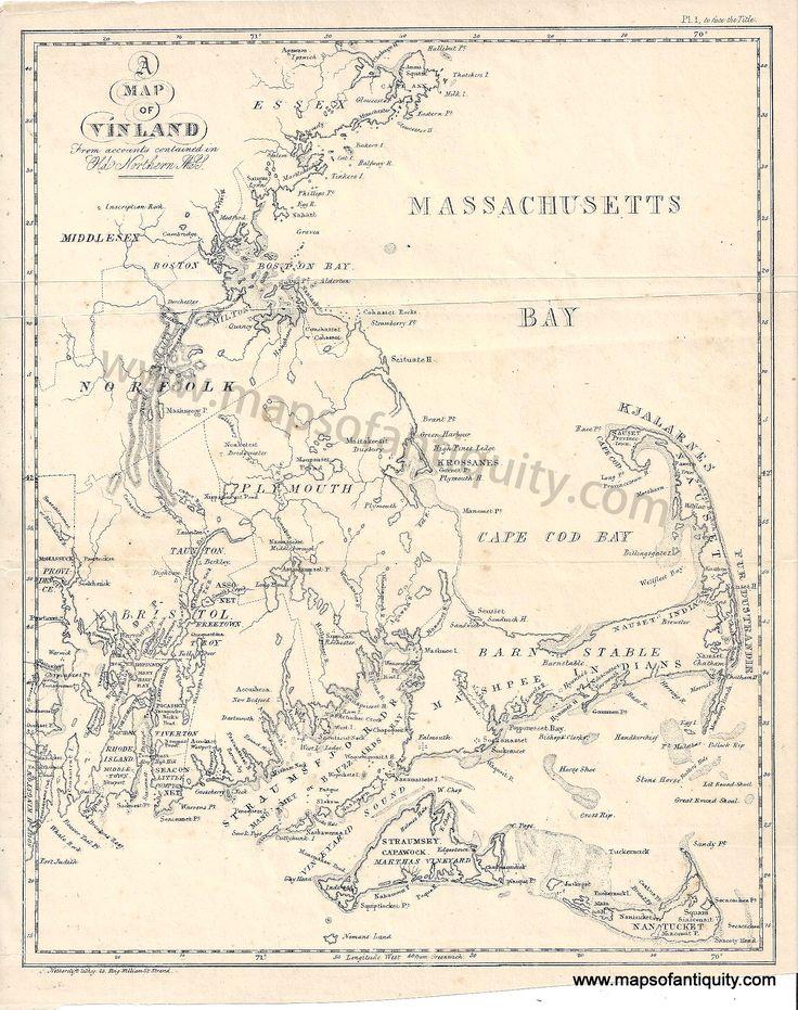 Vinland Map High Resolution 119 best Cape Cod Maps...