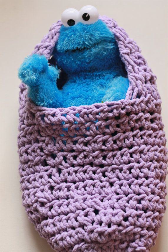 Newborn Baby Cocoon Wrap Very SoftLavender Spring by MiyukiCrochet, $40.00