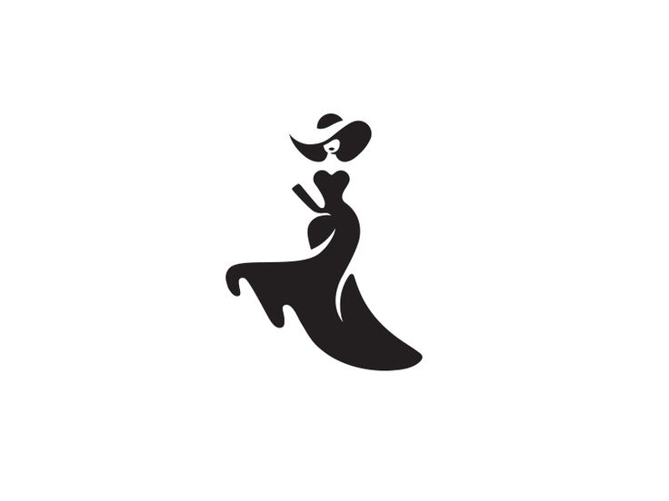 woman logo design icon fashion illustration graphic calligraphy marks black Charm