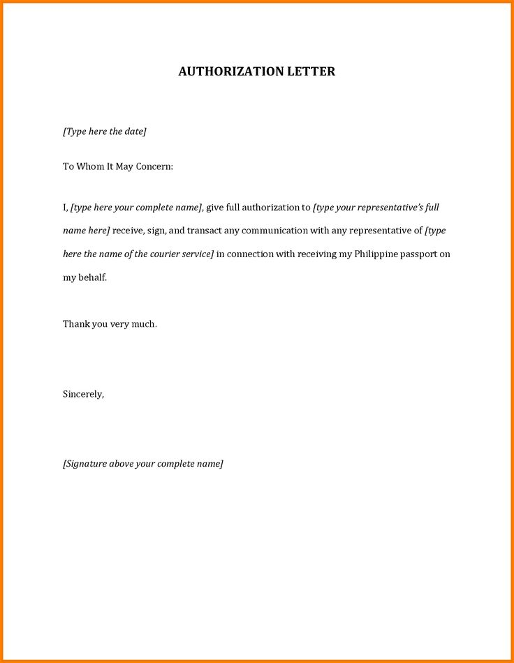 authorization letter for passportmple travel Home Design Idea - ngo bylaws template