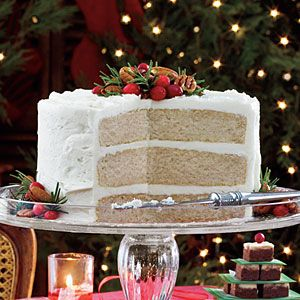 Sugar & Spice Cake - From the Cover of December 2008 Southern Living Magazine - Frost with Vanilla Buttercream