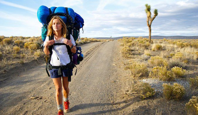 List of travel inspiring movies. Reese Witherspoon solo hiking on a train in Wild film