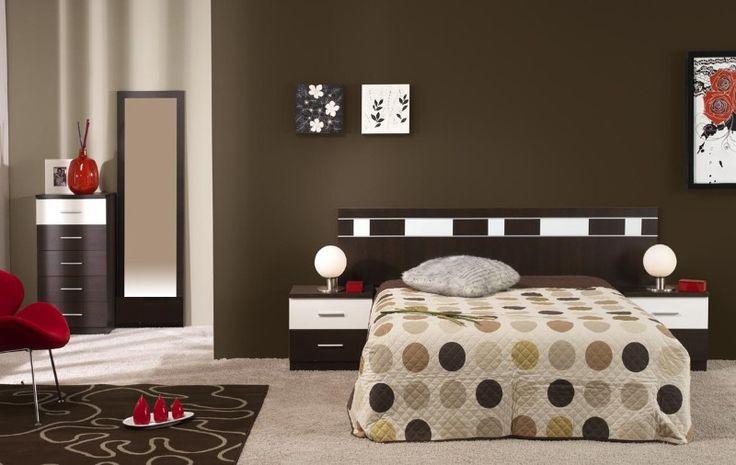 Dormitorio wengue y blanco inspiraci n de dise o de for Habitaciones con muebles blancos