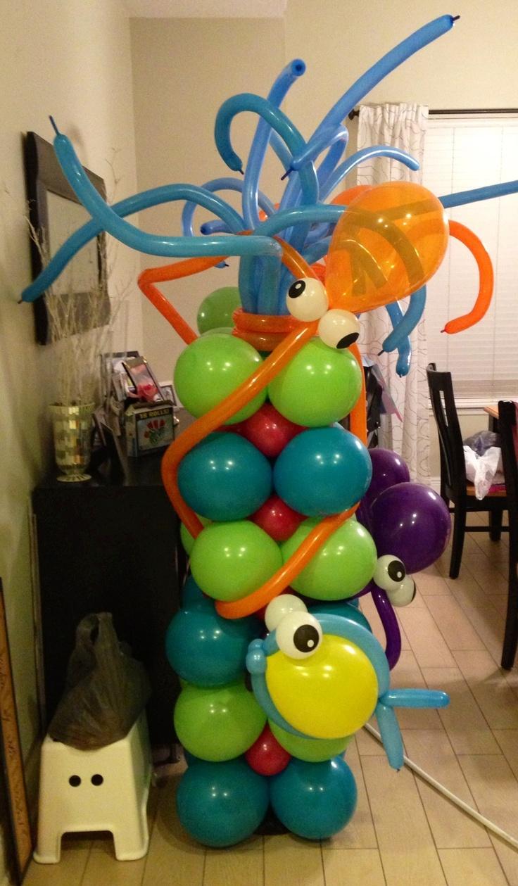 Diy balloon columns - Under The Sea Balloon Column By Me Dennise Serving Central Florida