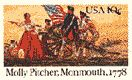 Mary Hayes McCauley earned the name Molly Pitcher by carrying water to the men in the battle of Monmouth in 1778.