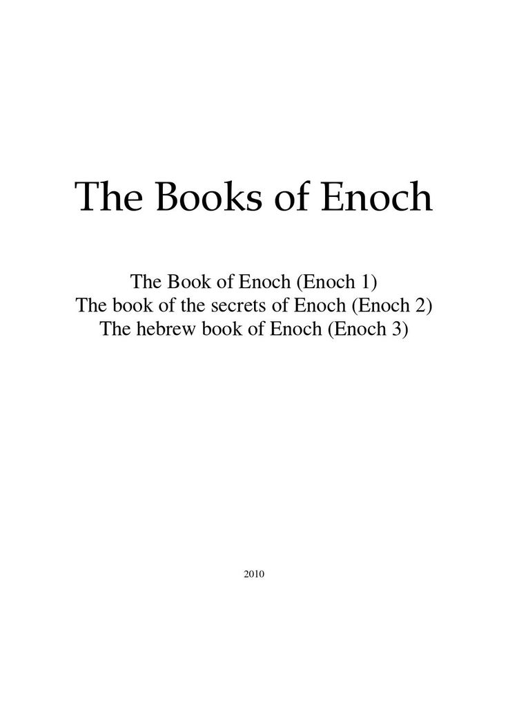 All books of enoch (1,2,3)