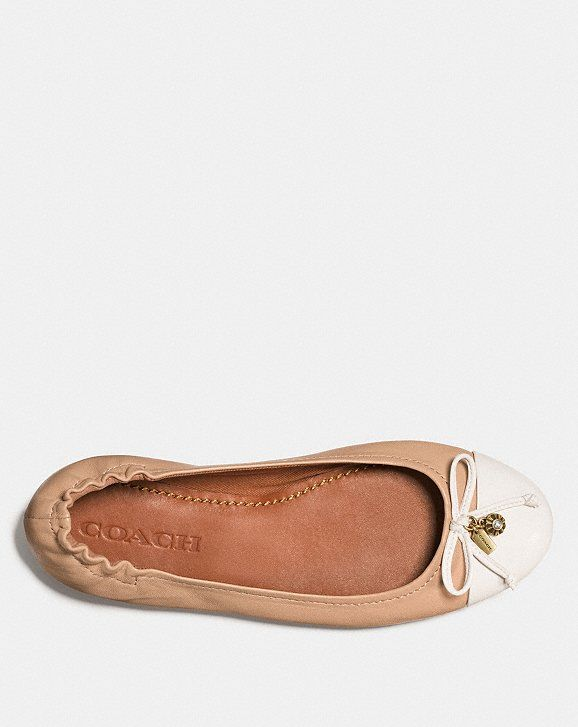 Pearl Foldable Ballet | Coach leather