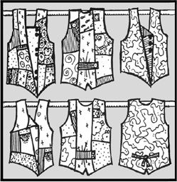 multi size pieced vest sewing pattern small to plus size, interesting vest