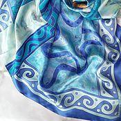 Аксессуары ручной работы. Ярмарка Мастеров - ручная работа Платок ручной работы Мечты о море. Handmade.