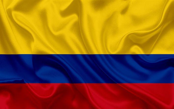 Lataa kuva Kolumbian lippu, Kolumbia, Etelä-Amerikassa, silkki