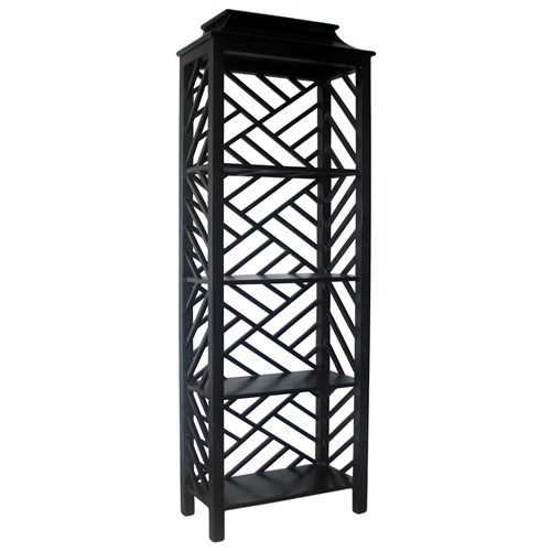 Noir Meiling Bookcase Hand Rubbed Black @ZincDoor #skulls #honest #projectnursery #nursery #blackwhite #pinparty