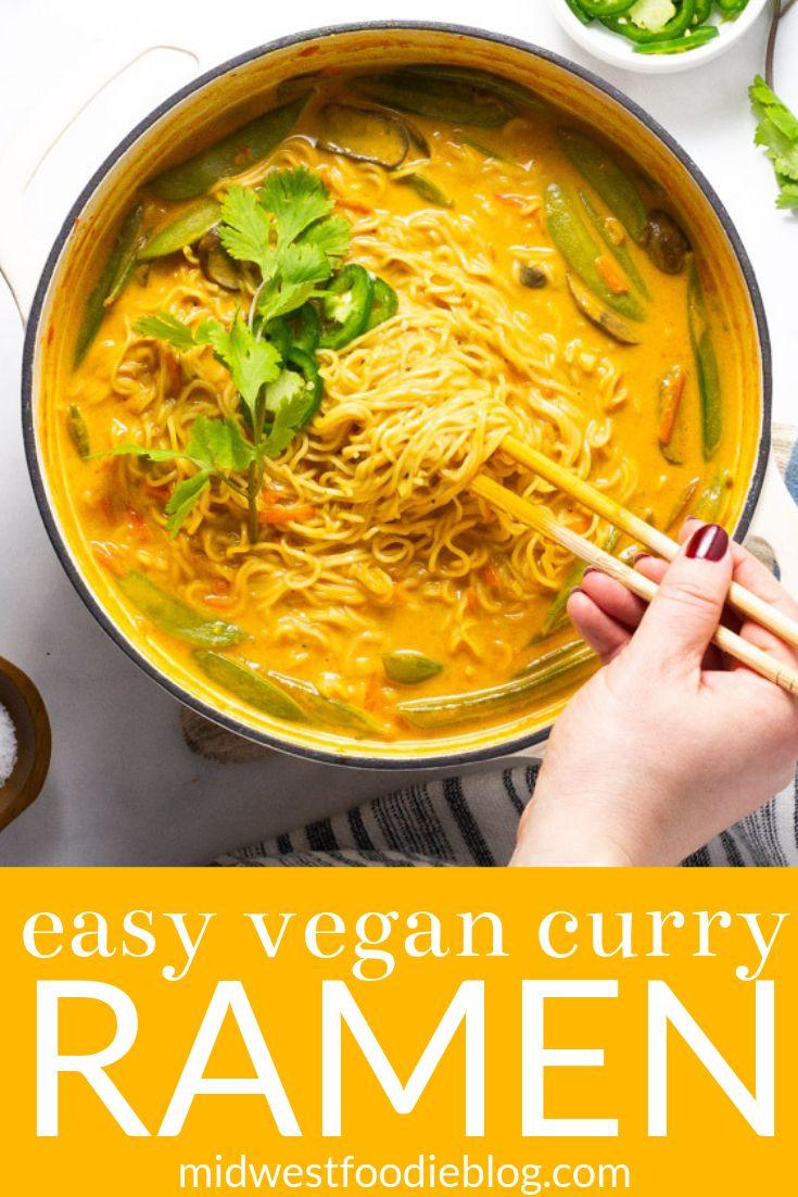 20 Minute Vegan Curry Ramen