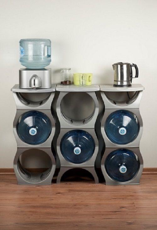 U Water Bottle Rack - Storage Solution for 3 & 5 Gallon Water Bottles #UWaterBottleRack