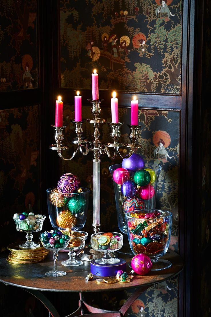 Throw your collection of baubles into glass vessels for a festive feel. | Alternative and easy ways to decorate for christmas | Go to http://www.redonline.co.uk