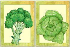 """Ergänzende Flashcards/Wordcards """"vegetables""""    Gewünscht wurden ergänzende Flashcards und Wordcards zum Englischthema """"vegetables"""". Die Da..."""