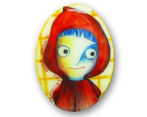 """Spilla """"Cappuccetto Rosso"""" ideato da NOTTURNOC— La Casa di Ninni"""