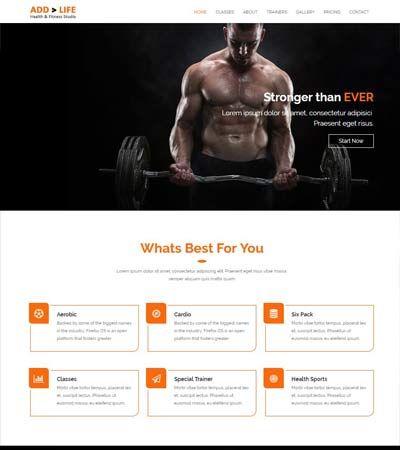 11 best Fitness website templates images on Pinterest Website